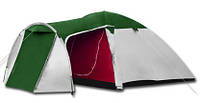 Палатка туристическая 4-х местная MONSUN 4 - 3000мм. H2О - 4,1 кг (Клеевые швы,тамбур)