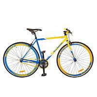 "Велосипед Profi  28"" FIX26C700-UKR-Fixed Gear Bike, Фикс и Сингл спид (Желто-голубой)"