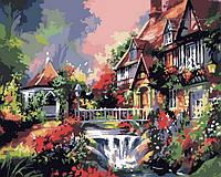 "Картина по номерам ""Маленький мостик над водопадом"" 40х50 см"
