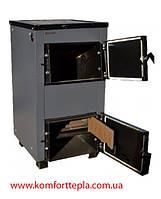 Котел твердотопливный Protech TTП-15 c плитой и чугунными колосниками