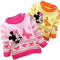 Детский вязаный свитер с Минни Маус