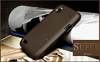 Чехол Nillkin для HTC Desire V T328w / Desire X T328e коричневый (+пленка)