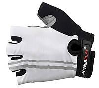 Велоперчатки анатомического пошива Power Play. Белый