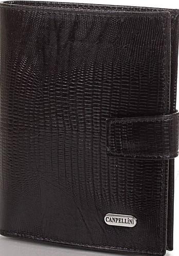 Стильное мужское кожаное портмоне CANPELLINI (КАНПЕЛЛИНИ) SHI506 черный