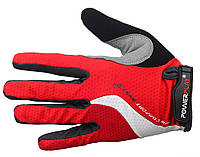 Перчатки для велосипеда с силиконовой ладонью. Красный