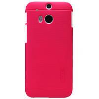 Чехол Nillkin для HTC One M8 красный (+пленка)