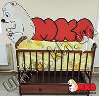 Комплект постельного белья в детскую кроватку 4 в 1 желтый