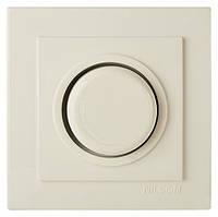 Диммер, светорегулятор проходной с подсветкой 300W поворотный Nilson Touran белый, крем