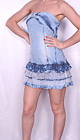 Легкое джинсовое платье-сарафан Турция