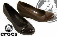 Женские туфли крокс Crocs Cap Toe Wedge