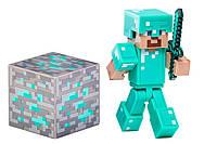 Minecraft Diamond Steve Action Figure (Майнкрафт Стив в алмазной броне)