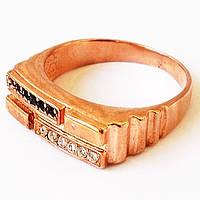 Перстень мужской, позолота. Размер 20.