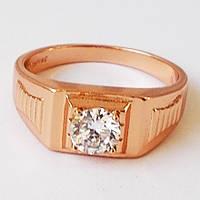 Мужское кольцо (печатка). Покрытие золото 18К.Размеры 19.5, 20, 20.5, 21.