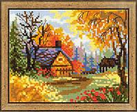 Набор для вышивки крестом 1325 Деревенский пейзаж.Осень