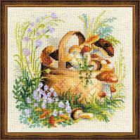 Набор для вышивки крестом Риолис 1363 Грибное лукошко