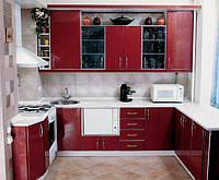 Кухни эконом класса на заказ в Киеве, дешевые кухни с пленочными фасадами под заказ, недорого, Киев
