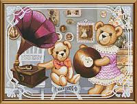 Набор для вышивания нитками на канве Мишки-меломаны СР 1182