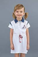 Детское платье для девочки с канатиком белое (арт:К03-00506-0)