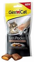 Витаминизированное лакомство для котов и кошек Gimpet Nutri Pockets Птица + Биотин, 60г