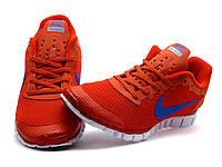 Кроссовки мужские Nike Free Run 3.0 сетка текстиль, красные, р. 40  42 43 44, фото 1