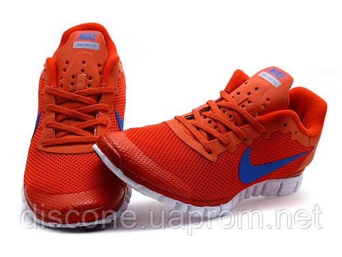 Кроссовки мужские Nike Free Run 3.0 сетка текстиль, красные, р. 40 42 43 44