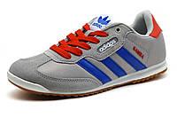 Кроссовки спортивные Adidas Samba унисекс, комбинированные, серые, фото 1