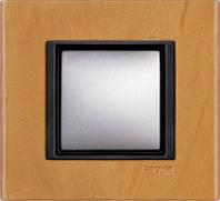 Накладка для розеток выключателей Schneider electric Unica class кожа сахара