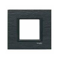 Накладка для розеток выключателей Schneider electric Unica class черный камень