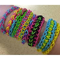 Набор резиночек для плетения в стиле Rainbow Loom, резиночки для плетения браслетов 12 цветов