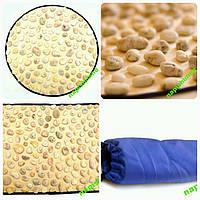 Массажный коврик для стоп из натуральных черноморских камней отборная галька для детей и взрослых