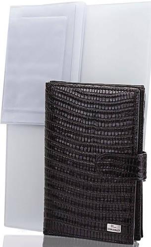 Мужской солидный кожаный органайзер для документов DESISAN (ДЕСИСАН) SHI102-143 черный