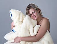 Одеяло меховое шерстяное Полуторное 140 х 205 см