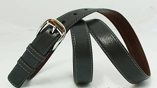 Кожаный женский ремень 3734 серый ДхШ: 117х3 см.