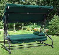Садовая качеля-диван RAMIZ  с козырьком зеленая