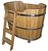 Купель для бани овальная деревянная 500 л, дуб