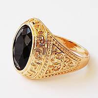 Мужское кольцо (печатка).Позолота 18К. Размер 20.