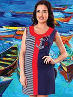 Хлопковое женское пляжное платье  ТМ  Turteks