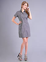 Платье - халат женское летнеее серое, хлопок, 50 р-р