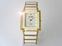 Мужские часы RADO, cristal, керамические, золотисто белые
