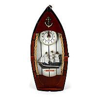 Ключница с часами в классическом морском полосатом стиле 30714SB