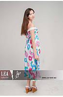 Цветной женский сарафан натуральная ткань, длинный женский сарафан открытая спина