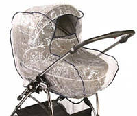 Универсальный дождевик на коляску для люльки с окошком и не большую прогулочную коляску.