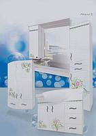 Мебель для ванной комнаты с рисунком рис 2