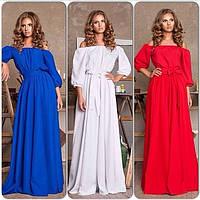 Женское нарядное длинное платье - 3 цвета!