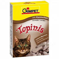 Витамины для котов Gimpet Topinis кролик, для улучшения обмена веществ, микрофлоры кишечника, 190 таблеток