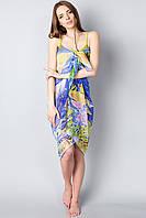 Пляжное женское парео в ярких контрастных цветах, фото 1