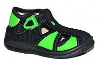 Детские летние закрытые сандалии для мальчика с застёжкой (Чёрные)