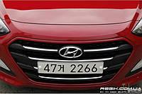 Решетка радиаторная Mobis для Hyundai I30 (2011+) тип Б