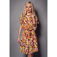 Женское летнее платье на пуговицах