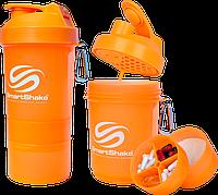 Шейкер SmartShake Neon/Orange 400 ml + 2 контейнера для капсул и порошка